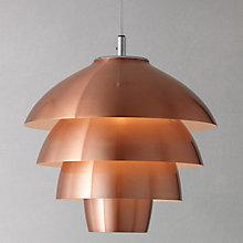 Buy John Lewis Oslo Layered Ceiling Pendant, Copper Online at johnlewis.com