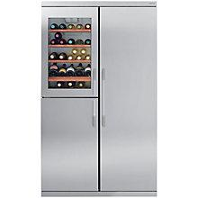 Buy John Lewis Side-by-Side JLDMFF001 Slim Depth Wine Cooler Fridge Freezer, Stainless Steel Online at johnlewis.com