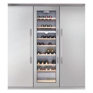 Buy John Lewis JLTMFF006 Slimdepth Wine Cabinet Triple Fridge Freezer, Stainless Steel Online at johnlewis.com