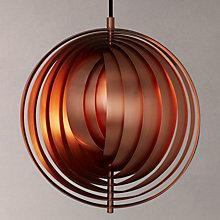 Buy Verpan Moon Pendant, Copper, Small Online at johnlewis.com