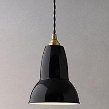 Buy Anglepoise 1227 Small Pendant, Slate/ Brass Online at johnlewis.com