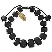 Buy Lola Rose Fern Agate Bracelet, Black Online at johnlewis.com