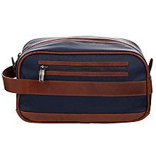 Buy Hackett London Leather Trimmed Washbag Online at johnlewis.com