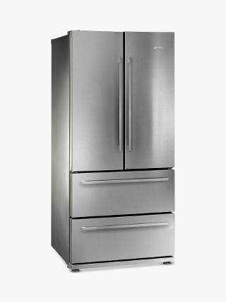 Buy Smeg FQ55FX 4-Door American Style Fridge Freezer, A+ Energy Rating, 80cm Wide, Stainless Steel Online at johnlewis.com