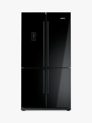 Buy Smeg FQ60BPE 4-Door American Style Fridge Freezer, A+ Energy Rating, 90cm Wide, Black Online at johnlewis.com