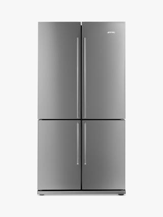 Buy Smeg FQ60XP 4-Door American Style Fridge Freezer, A+ Energy Rating, 90cm Wide, Stainless Steel Online at johnlewis.com