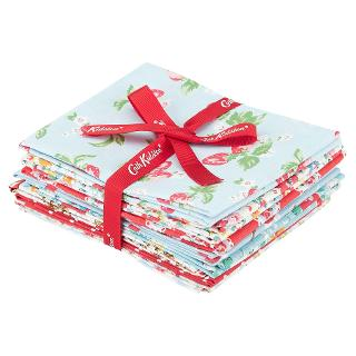 Buy Cath Kidston Floral Fabric Squares, Pack of 8, Blue/Multi Online at johnlewis.com