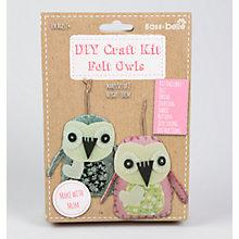 Buy Sass & Belle DYI Craft Kit Felt Owls Sewing Kit, Grey/Pink Online at johnlewis.com