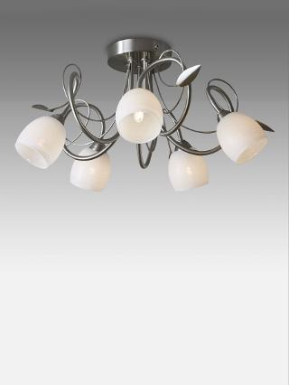 Buy John Lewis Amara Chrome Leaf Multi-Arm Ceiling Light, 5 Light Online at johnlewis.com