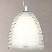 Buy John Lewis Amaury Stripe Glass Pendant Light Online at johnlewis.com