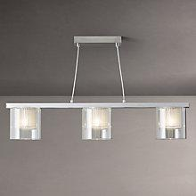 Buy John Lewis Salvatore 3 Glass Bar Pendant Light Online at johnlewis.com