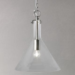 Buy John Lewis Tracy Nickel Glass Pendant Light Online at johnlewis.com