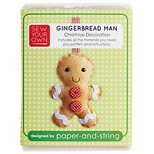 Buy Sew Your Own Christmas Decoration Kit, Gingerbreadman Online at johnlewis.com