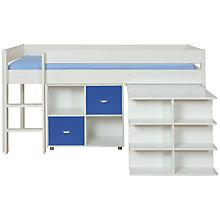 Buy Stompa Uno Plus Mid-sleeper Bedstead with Desk and 2 Door Cube Unit Online at johnlewis.com