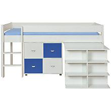 Buy Stompa Uno Plus Mid-sleeper Bedstead with Desk and 4 Door Cube Unit Online at johnlewis.com
