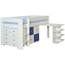 Buy Stompa Uno Plus Mid-sleeper Bedstead with Desk, Chest and 4 Door Cube Unit Online at johnlewis.com