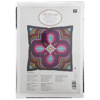 Buy Rico Embroidery Flower Cushion Kit, Multi Online at johnlewis.com