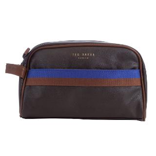 Buy Ted Baker Cleanit Core Webbing Wash Bag, Chocolate Online at johnlewis.com