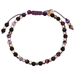 Buy Lola Rose Portobello Persian Agate Bracelet, Purple Online at johnlewis.com