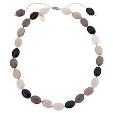 Buy Lola Rose Kyra Agate Necklace, Grey/Moonbeam Online at johnlewis.com