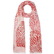 Buy Lola Rose Giant Leopard Heart Print Scarf, Pink Online at johnlewis.com