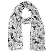 Buy Lola Rose Abstract Butterfly Scarf, Grey Online at johnlewis.com