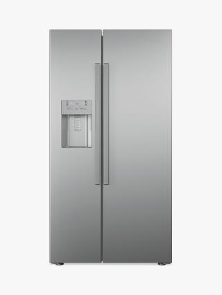 Buy Beko ASN541S American Style Stainless Steel Fridge Freezer, Silver Online at johnlewis.com