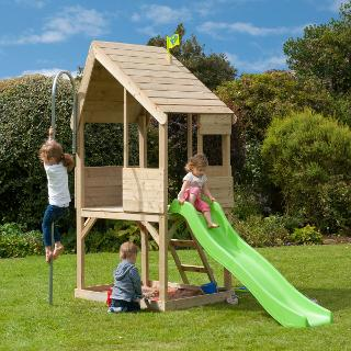 Buy TP Toys TP321S Wooden Playhouse & Slide Set Online at johnlewis.com