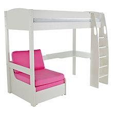 Buy Stompa Uno S Plus High-Sleeper Bed with Corner Desk and Chair Bed Online at johnlewis.com