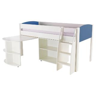 Buy Stompa Uno S Plus Mid-Sleeper Bed with Pull-Out Desk and Bookcase Online at johnlewis.com