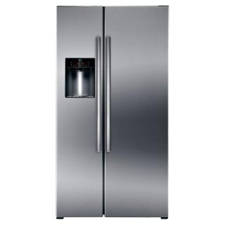 Buy Neff K5920L0GB American Style Fridge Freezer, Stainless Steel Online at johnlewis.com