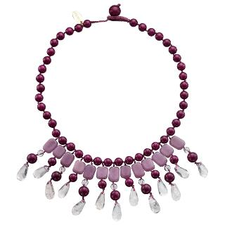 Buy Lola Rose Katy Crystal Necklace, Black Cherry Online at johnlewis.com