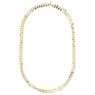 Buy Lola Rose Knightsbridge Rose Quartz Necklace, Gold/Pink Online at johnlewis.com