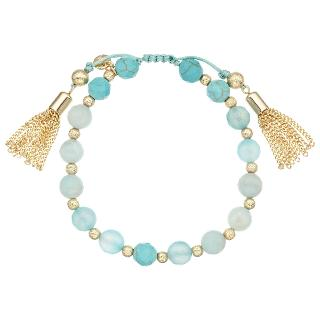 Buy Lola Rose Bali Tassle and Bead Bracelet, Turquoise/Gold Online at johnlewis.com