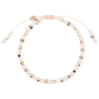 Buy Lola Rose Portobello Rose Quartz Bracelet, Pink/Rose Gold Online at johnlewis.com