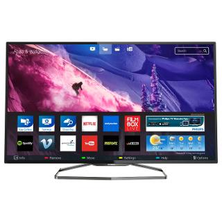 "Buy Philips 48PFS6909 Ultra-Slim LED HD 1080p 3D Smart TV, 48"" with Freeview HD, Ambilight and 2x 3D Glasses Online at johnlewis.com"