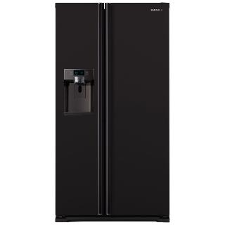Buy Samsung RSG5MUBP1/XEU American Style Fridge Freezer, A+ Energy Rating, 91cm Wide, Black Online at johnlewis.com