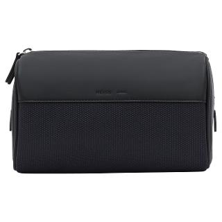 Buy Reiss Berlin Contrast Textured Wash Bag, Navy/Black Online at johnlewis.com