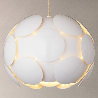 Buy John Lewis Atom Pendant Light, Gloss White Online at johnlewis.com