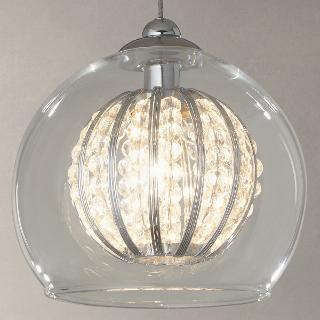 Buy John Lewis Claire Single Beaded Pendant Light Online at johnlewis.com