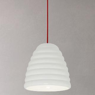 Buy Original BTC Hector Bibendum Pendant Light, White / Red Online at johnlewis.com