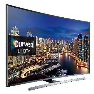 "Buy Samsung UE48JU7500 Curved LED 4K Ultra HD 3D Smart TV, 48"" with Freeview HD/ freesat HD and Built-in Wi-Fi Online at johnlewis.com"