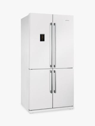 Buy Smeg FQ60BPE 4-Door American Style Fridge Freezer, A+ Energy Rating, 90cm Wide, White Online at johnlewis.com