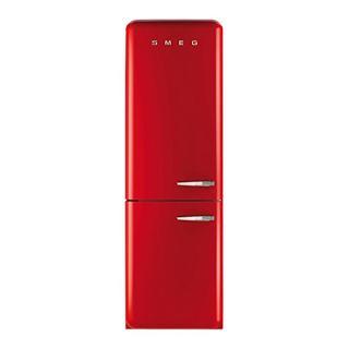 Buy Smeg FAB32LNR Fridge Freezer, A++ Energy Rating, Left-Hand Hinge, 60cm Wide, Red Online at johnlewis.com