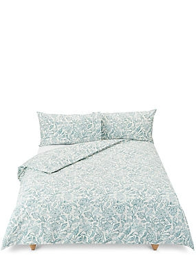 Floral Print Bedding Set, TEAL GREEN, catlanding