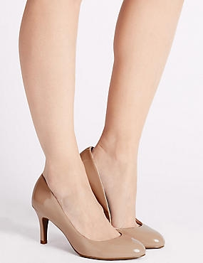 Wide Fit Stiletto Almond Toe Court Shoes, CARAMEL, catlanding