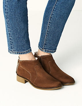 Block Heel Side Zip Tie Back Ankle Boots, TAN, catlanding