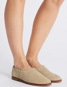 Suede Low Cut Loafers, MINK, catlanding