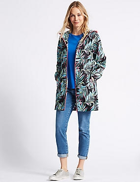 Palm Print Parka with Stormwear™, MULTI, catlanding
