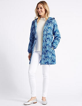 Palm Print Parka with Stormwear™, BLUE MIX, catlanding